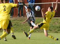 DJ Campbell scores for Maidenhead United against Faversham Town