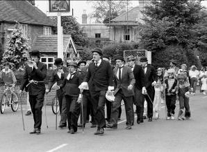 Remember When: A dozen Charlie Chaplins seen heading to the summer fayre