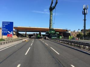 Bridge work completed on M4 over the weekend as part of smart motorway project
