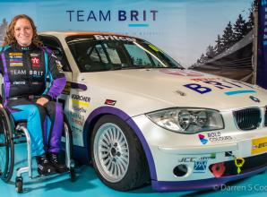 Ex Army-medic from Ascot paralysed in motorcycle collision becomes Team BRIT's first female racing driver
