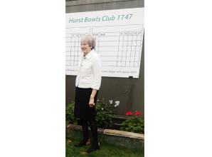 MP Theresa May welcomed as new patron of Hurst Bowling Club