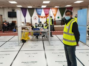 Slough Hindu Temple transformed into mass rapid coronavirus testing centre