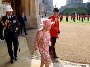 In pictures: Queen welcomes President Joe Biden to Windsor Castle