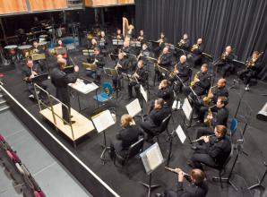 Open rehearsals held at Norden Farm for mounted band of the Household Cavalry