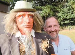 Scarecrow which was mistaken for dead body among village show entries