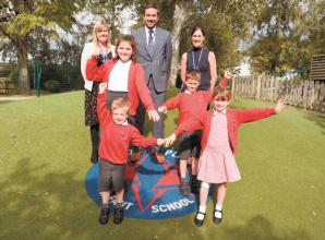 Furze Platt infants and juniors launch under shared flag