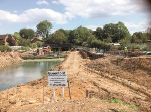 Progress made on Maidenhead Waterways weir
