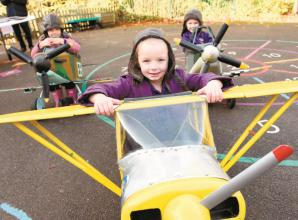 Burchetts Green Infant School takes to the skies