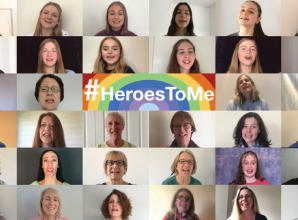 Choir sings 'thank you for your service' to the tune of ABBA