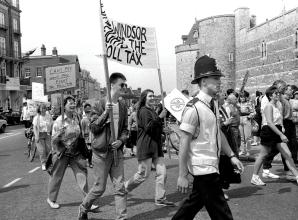 Remember When: Passionate poll tax protesters marched petition to the Queen