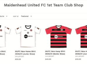 Maidenhead United's 150th anniversary kits available to pre-order online