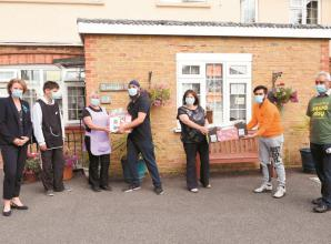Sewa Day volunteers visit Applegarth Care Home