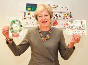 Theresa May's annual Christmas card competition returns
