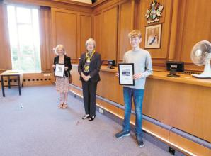 Theresa May presents prizes to winners of Waterways photography competition