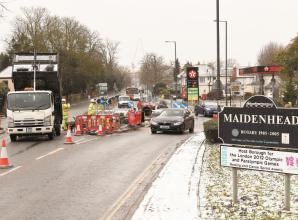 Congestion caused as Ray Mead Road roundabout works begin