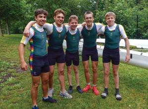 Windsor Boys School rowers wear new kits with Pride at Marlow Regatta