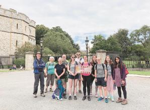 Walkers trek from Twyford to Windsor as part of relay for word's poorest communities