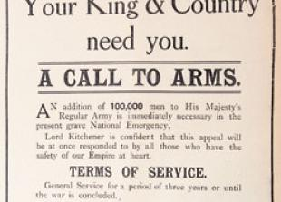 A CALL TO ARMS: 1914 - World War One begins