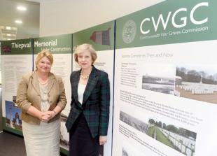 Theresa May visits Commonwealth War Graves Commission ahead of Somme anniversary