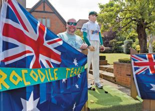 Villagers poke fun at Donald Trump and David Warner during Sonning Scarecrow Trail