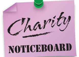 Charity Noticeboard: Find what events are coming up this month