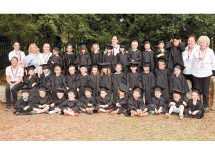 Class of four-year-olds graduate from Cedar Park nursery