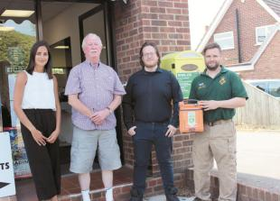 Stolen Twyford defibrillator replaced after campaign