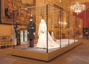 Meghan and Harry royal wedding outfits go on show at Windsor Castle