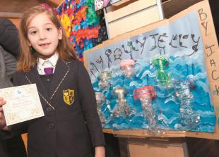 In pictures: Schools showcase eco artwork at Maidenhead Library
