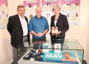 In pictures: Theresa May's shoes go on display at Maidenhead Heritage Centre