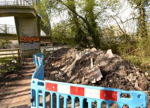 Anger over major fly-tip on Maidenhead footpath