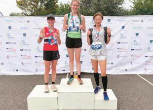 Podium finish and a terrific time for MAC's Becky in Surrey Half Marathon