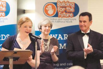 Theresa May presents Building for the Future awards